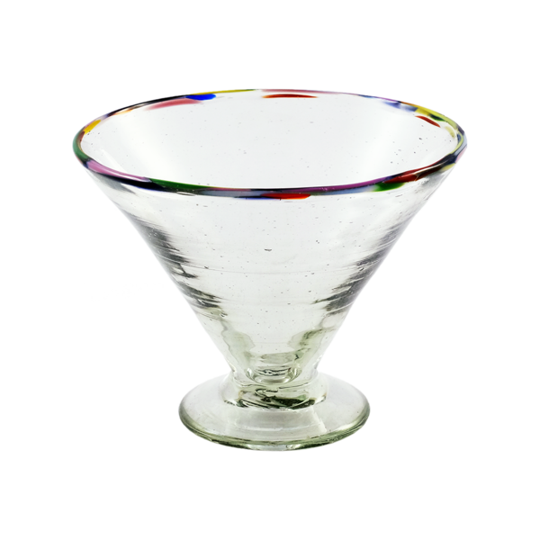 Colorful Rim Margarita Glass