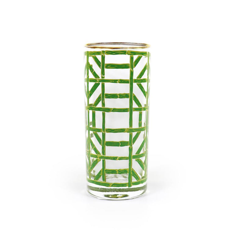 Green Bamboo Drinking Glass