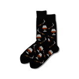 HOTSOX Men's Cognac & Cigars Crew Socks
