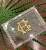 Acrylic Jewelry Box with Monogram