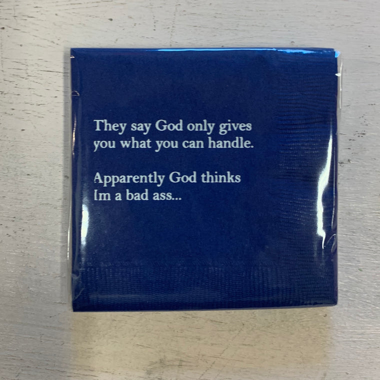 PA: They Say God Beverage Napkins
