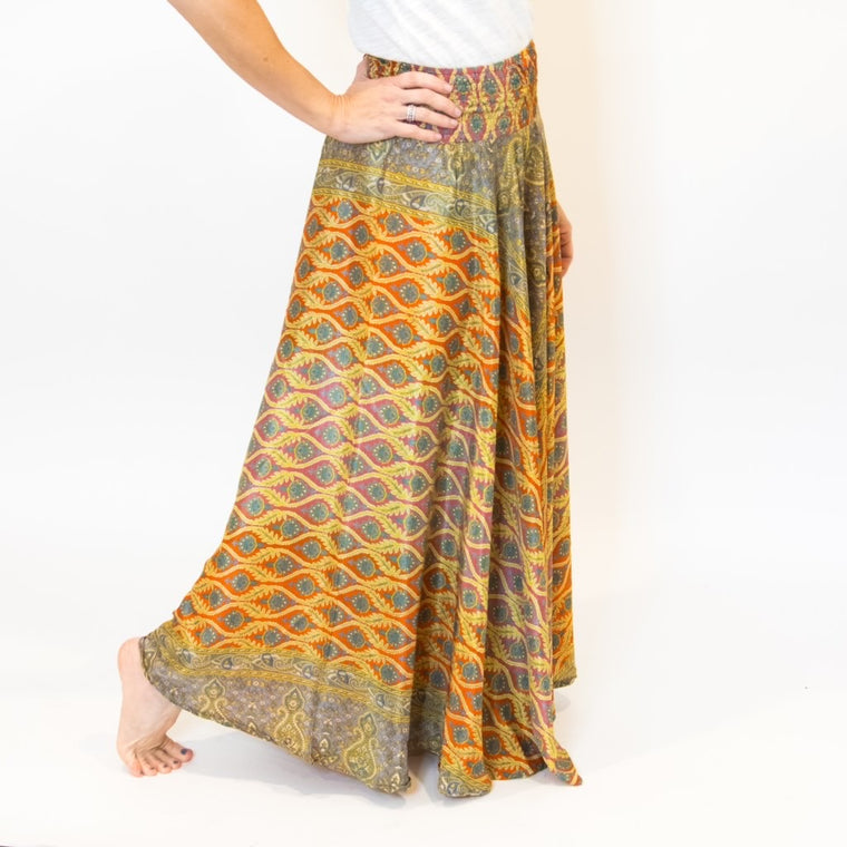 Wide Leg Pants Orange