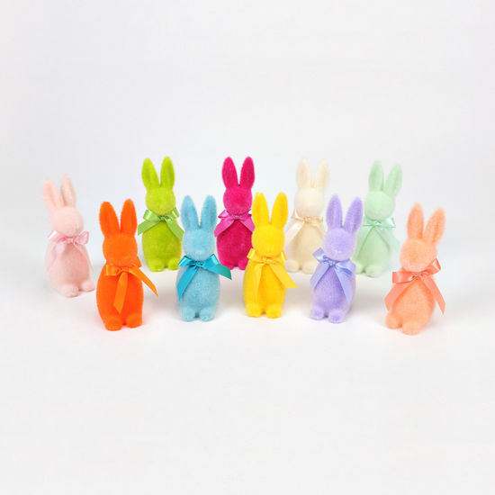 Small Flocked Nose Bunny (multiple variants)