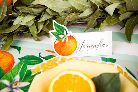Orange Orchards Place Card