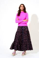 Oliphant Button Front Skirt Leopard