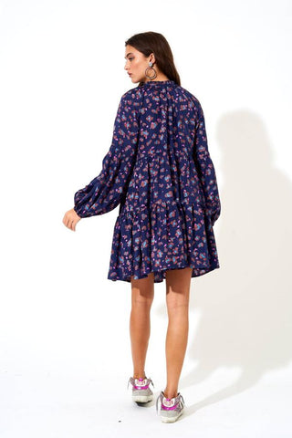 Oliphant Balloon Sleeve Short Dress