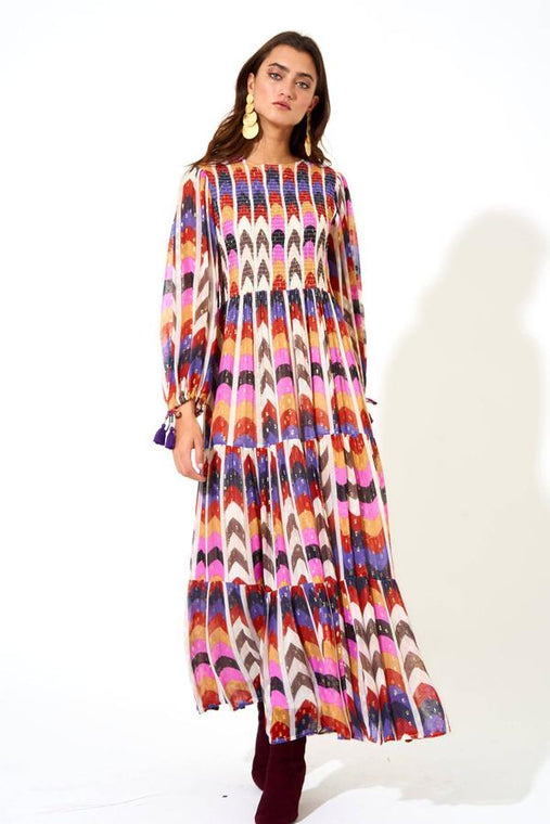 Oliphant Smocked Top Maxi Dress