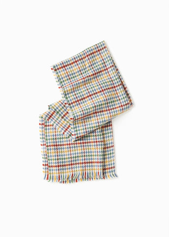Plaid Houndstooth Scarf-2 colors