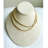 Gold Beaded Chain - Medium Length