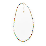 Tube Tile Necklace Rainbow Gold