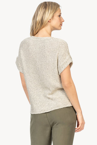 Lilla P Easy V-Neck Sweater Salt