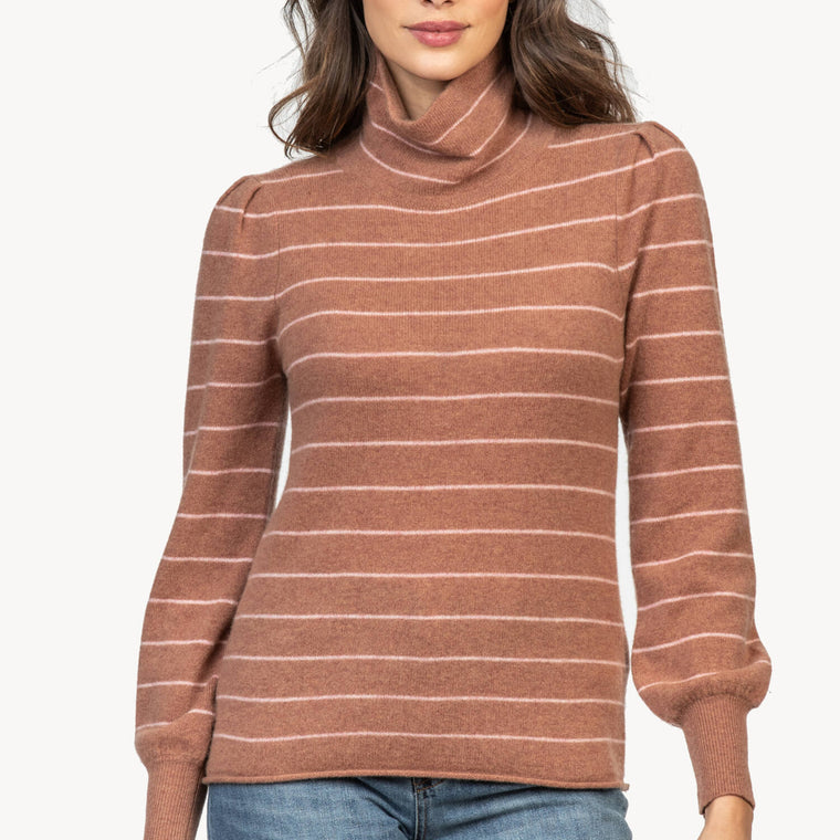 Lilla P Maple Stripe Cashmere Sweater
