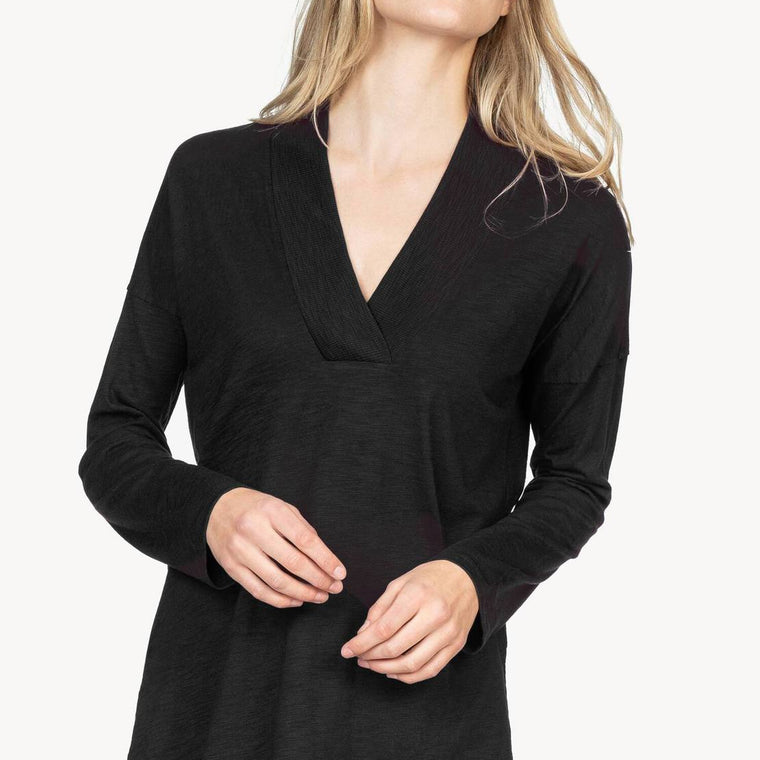 Ribbed Collar Tunic