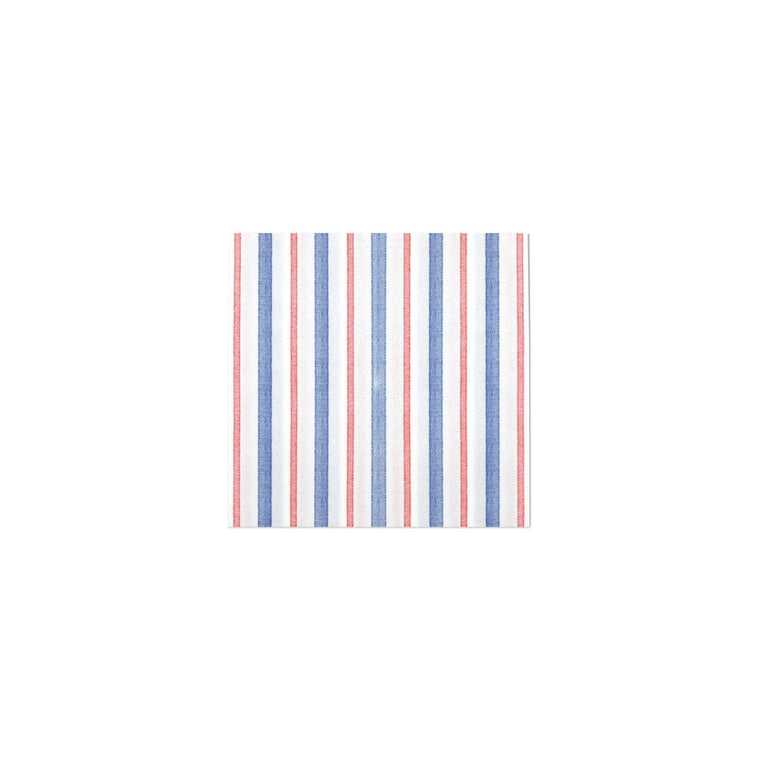 Papersoft Americana Stripe Cocktail Napkins