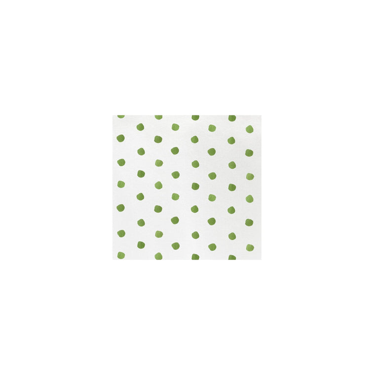 Vietri Dot Cocktail Napkins(green or red)