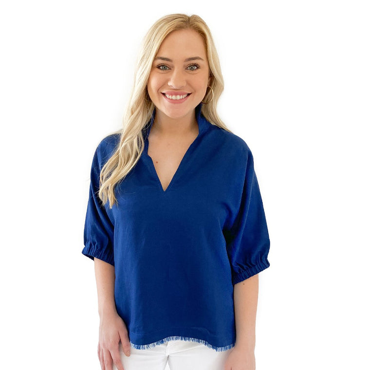 Emily McCarthy Poppy Top Navy