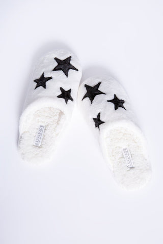 Ivory Plush Slippers