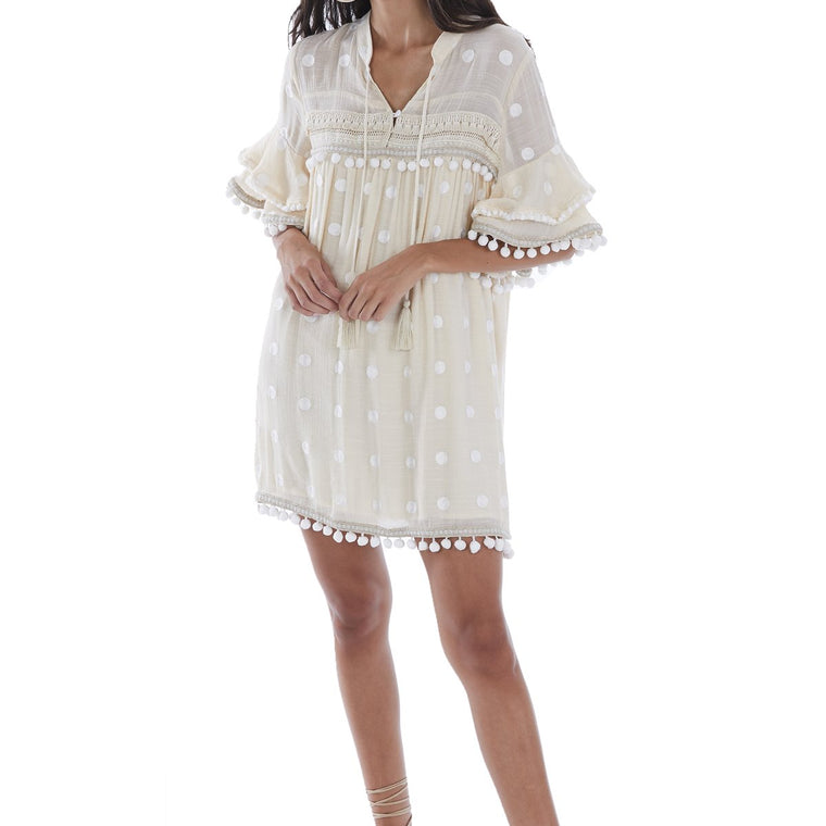 Pom Pom Embroidered Dress