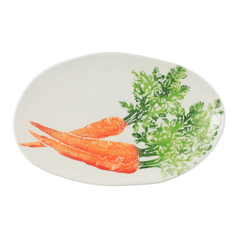 Spring Vegetables Small Oval Platter