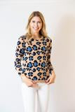 Two Bees Leopard Print Cashmere Sweater