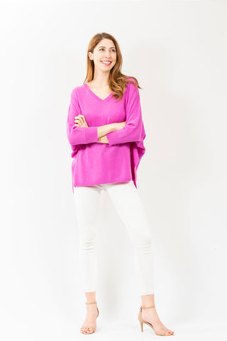 Two Bees Rosebud Lia V-Neck Sweater