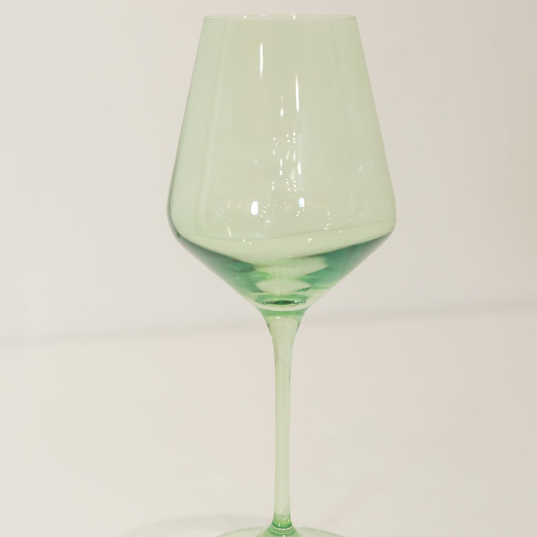 Estelle Colored Wine Glasses Mint Green