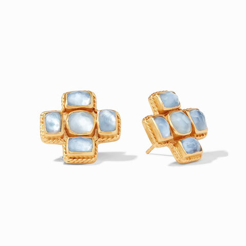 Julie Vos Savoy Chalcedony Blue Clip-On Earring