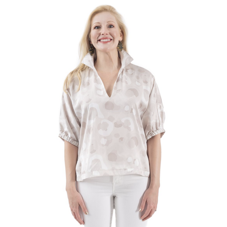 Emily McCarthy Poppy Top Neutral Spot Cheetah