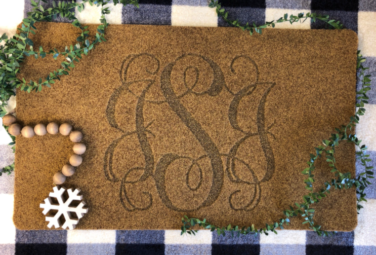 Custom Door Mat-Script Monogram