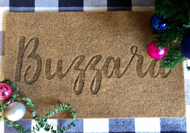 Custom Door Mat-Script Name