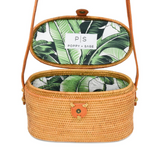 Luna Palm Rattan Bag