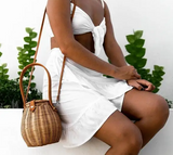 Honey Pot Rattan Bag