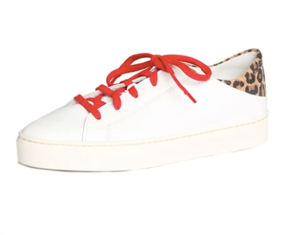 Leather & Leopard Tennis Shoe