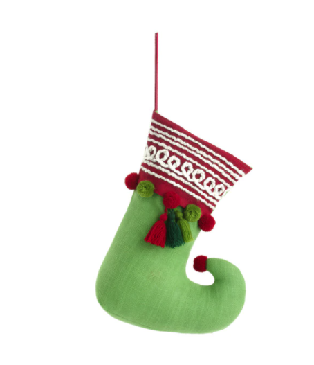 Elf Giving Boot Stocking