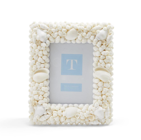 White Shell Frame 5x7