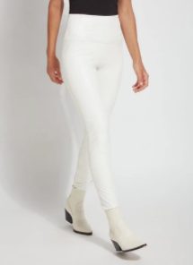 Textured Leather Legging Snow White