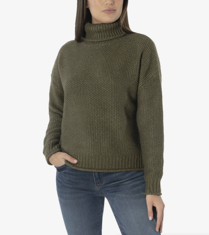 Hailee Turtleneck Sweater Olive