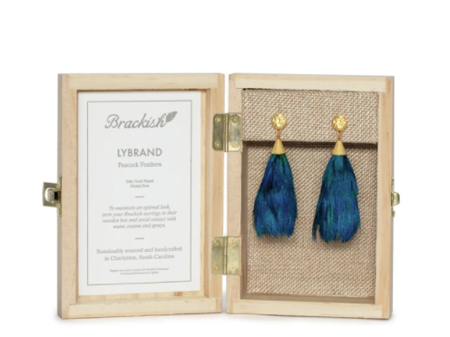Brackish Feather Statement Earrings