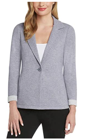 Grey Knit Blazer