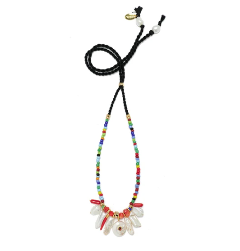 Lizzie Fortunato Isola Necklace In Rainbow