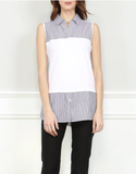 Hinson Wu Lea Sleeveless Foundation Layer In Stripes
