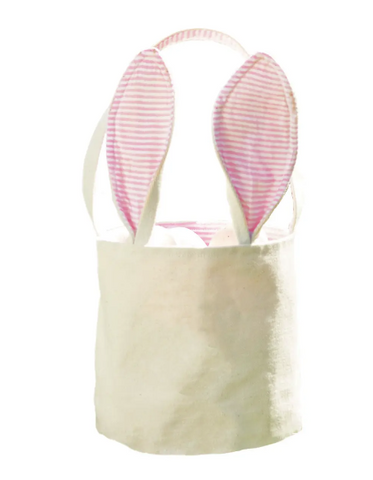 Canvas Easter Bunny Basket (blue or pink)