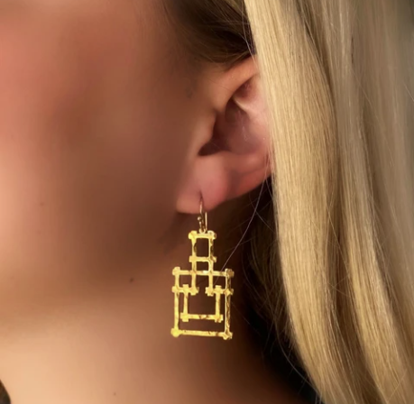 Hazel Smyth Bamboo Pagoda Dangle Earring