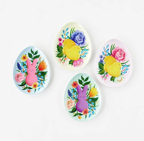 Peeps Egg Shaped Melamine Plate