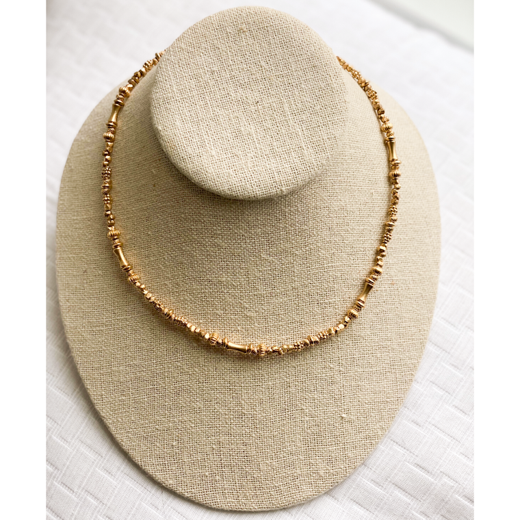 Janet Gregg - Short Gold Beaded Necklace