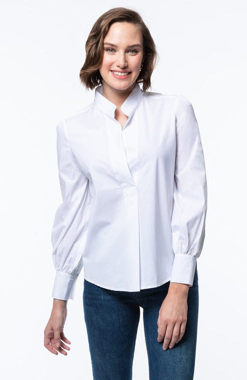 Tyler Boe White Bishop Sleeve Shirt