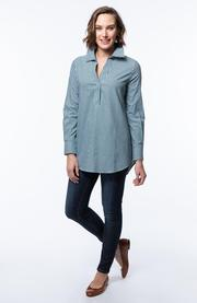 Tyler Boe Check Pop-Over Tunic