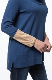 Cotton/Cashmere Cowl Neck Tunic