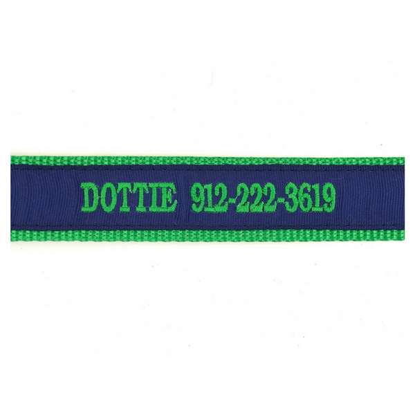 "Personalized Dog Collar 1/2"" Toy Sized"