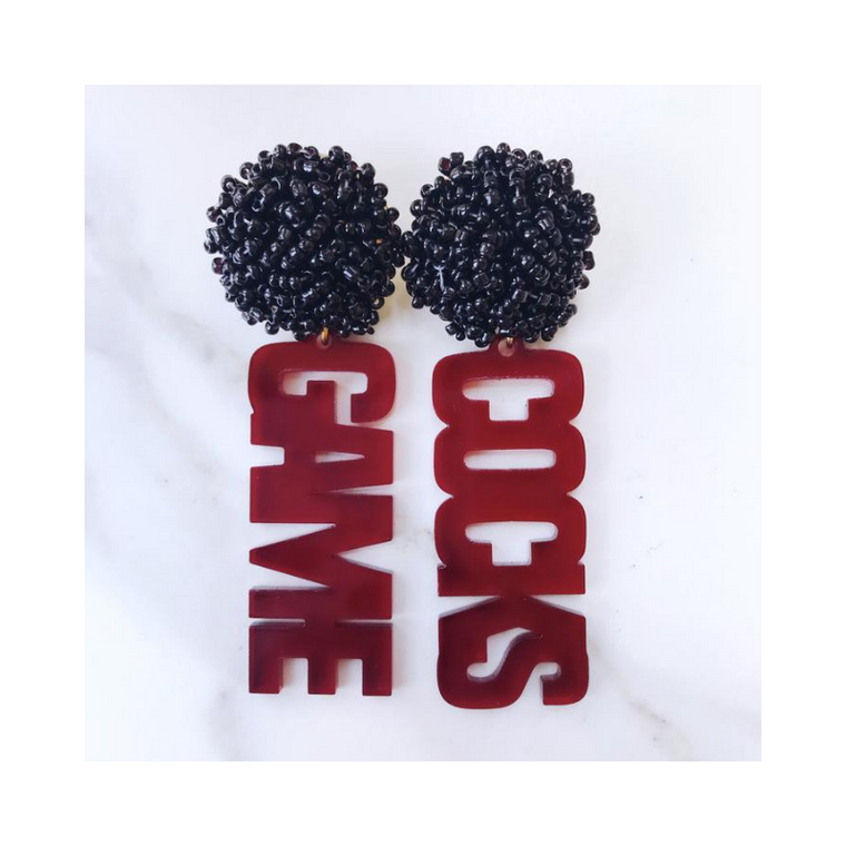 Gamecocks Acrylic Earrings